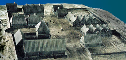 The French settlement village on St. Croix Island