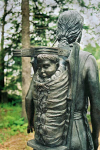 Passamaquoddy woman and child